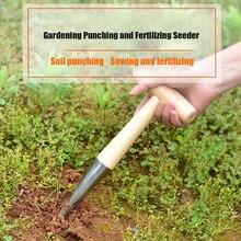 1 Pcs Home Gardening Hole Puncher Fertilizing Seeding Puncher Seeding Cutting Seedling Seedling Garden Tool Planting Supplies