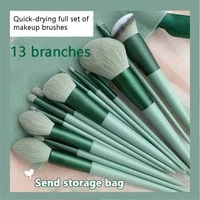 13pcs makeup brushes pro green brush set powder eyeshadow blending eyeliner eyelash eyebrow make up beauty cosmestic brushes