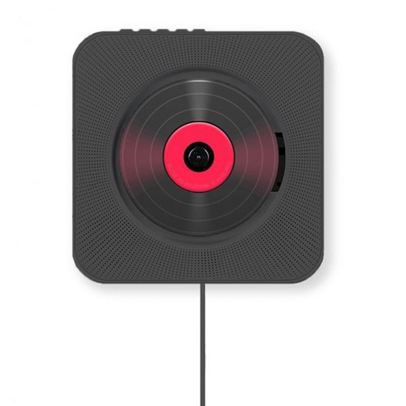 Wall Mounted CD Player Surround Sound FM Radio Bluetooth USB MP3 Disk Portable Music Player Remote Control Stereo Speaker