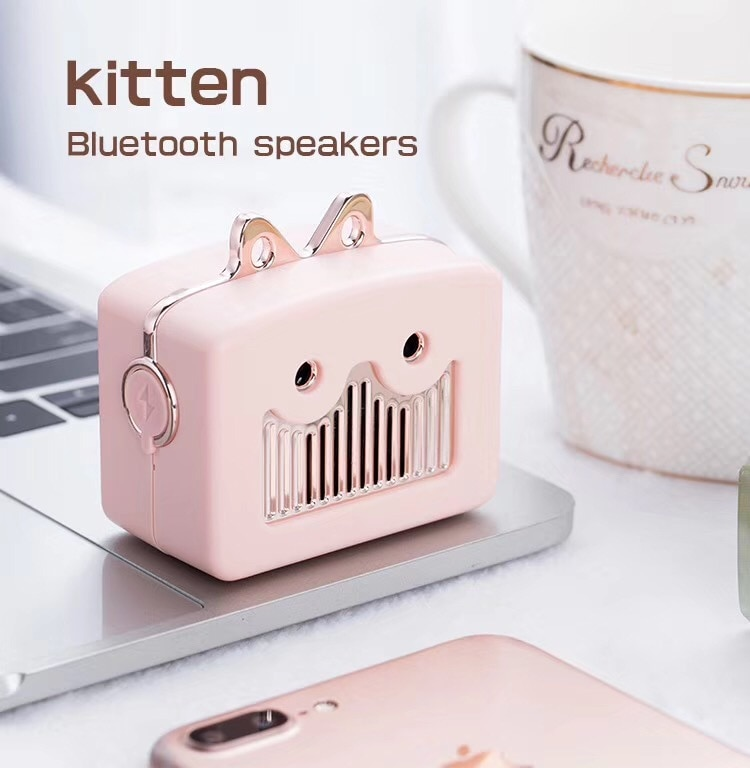 Robot creativo, altavoz inalámbrico por Bluetooth, Mini altavoz portátil de Audio pequeño, recargable para exteriores, portátil, para música
