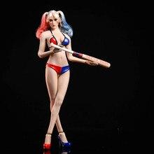 Estartek 1/6 juego de Bikini de bate de béisbol Harley Quinn para figura de acción de 12 pulgadas DIY