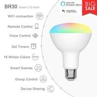 Cellphone WiFi Voice Control Lamp RGB Energy Saving Dimming LED Bulb Multicolor Smart Light Bulbs Compatible Alexa Google Home