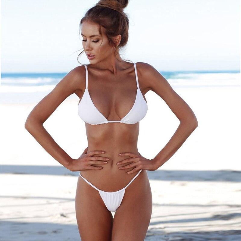Micro Bikini 2019 Swimsuit Female Swimwear Women Bandage Sexy Thong Brazilian Bikinis Set Beach Wear