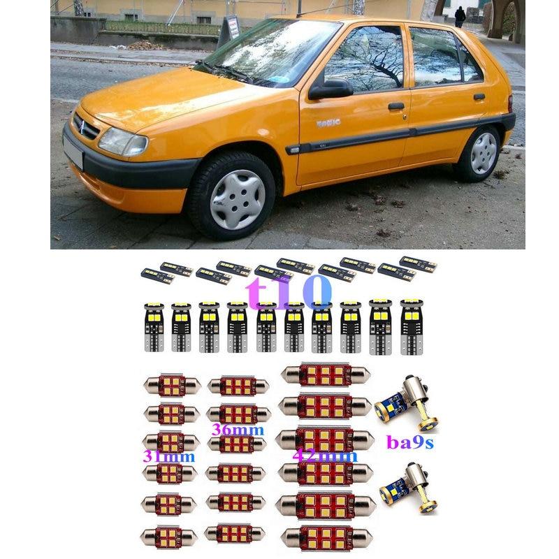 Led interior luzes do carro para citroen saxo s0 s1 hatchback synergie mpv 22 u6 minivan cúpula mapa lâmpada erro livre