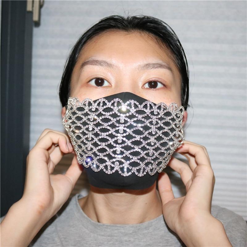 Máscara de joyería de moda para mujer de Star eyes, exquisita máscara de cristal de diamante de imitación de lujo de gran oferta, regalo de joyería sexy para mujer
