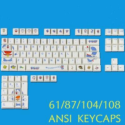 61/87/104/108 مفاتيح PBT صبغ التسامي شخصية مفتاح غطاء ل MX التبديل الميكانيكية لوحة المفاتيح قبعات ل عبقور