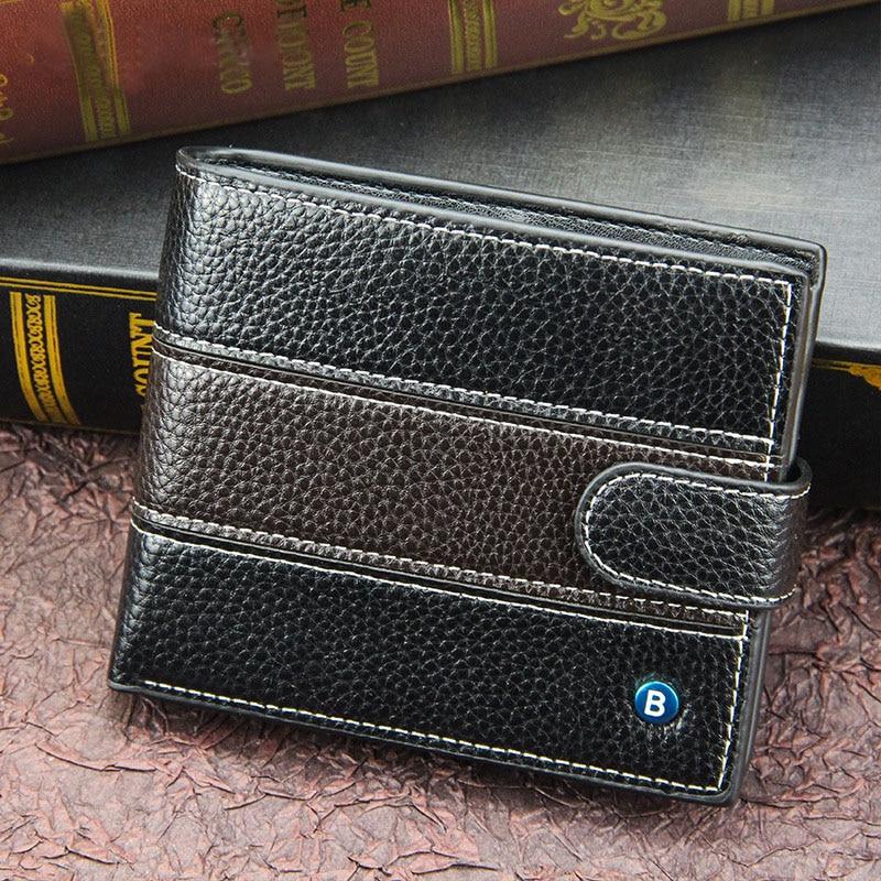 Мужской бумажник, мужской короткий кошелек, мужской кошелек для маленькой ноты 10 +, Магнитный кошелек, идеально подходит для вас, маленькие м...