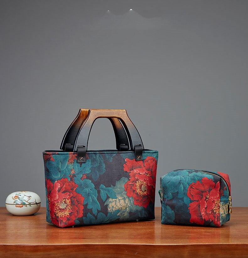 19.8X11.5cm Wooden Parts Luggage Para Bolsos Wooden Purse Handle Bag Frame Clasp Obag Handle wood purse frames drop ship