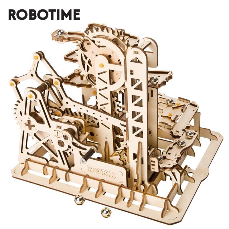 Robotime-أحجية رخامية ROKR DIY للأطفال والكبار ، أحجية خشبية ثلاثية الأبعاد ، معدات قيادة ، نموذج كوستر ، مجموعة بناء ، LG504