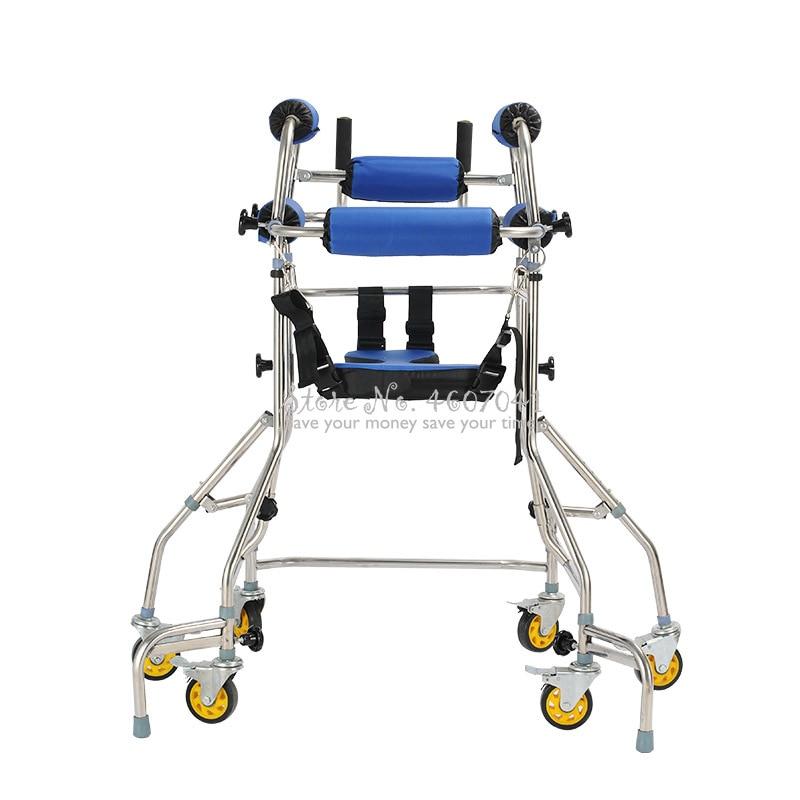 Producto en oferta, de 6 ruedas ayuda para caminar, andador para personas mayores, bastón para caminar, dispositivo de rehabilitación Anti-retroceso, estante giratorio