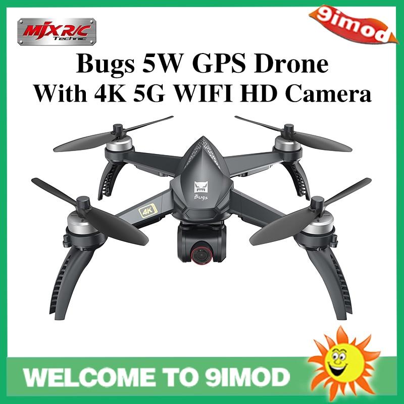 Mjx bugs 5w b5w gps sem escova rc zangão quadcopter com 5g 4k wifi fpv câmera hd retorno automático vs hubsan h501s zangão profissional