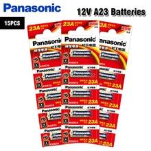 15pcs/lot Panasonic 23A Batteries 12V Alarm-Remote Primary Dry Alkaline Battery 21/23 23GA A23 A-23 GP23A RV08 LRV08 E23A V23GA