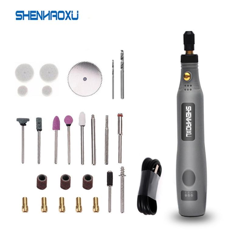 Mini wiertarka akumulatorowa elektronarzędzia elektryczne 3.6V wiertarko-szlifierka akcesoria szlifierskie zestaw bezprzewodowy grawerowanie Pen dla Dremel Home DIY