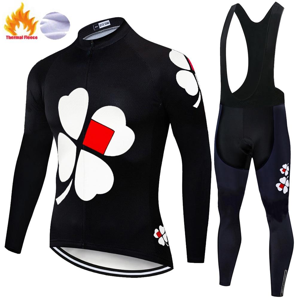 Fdj 2020, jersey de ciclismo, pantalones térmicos de lana para invierno, pantalones de ciclismo para hombre, para exteriores, de invierno, para hombre