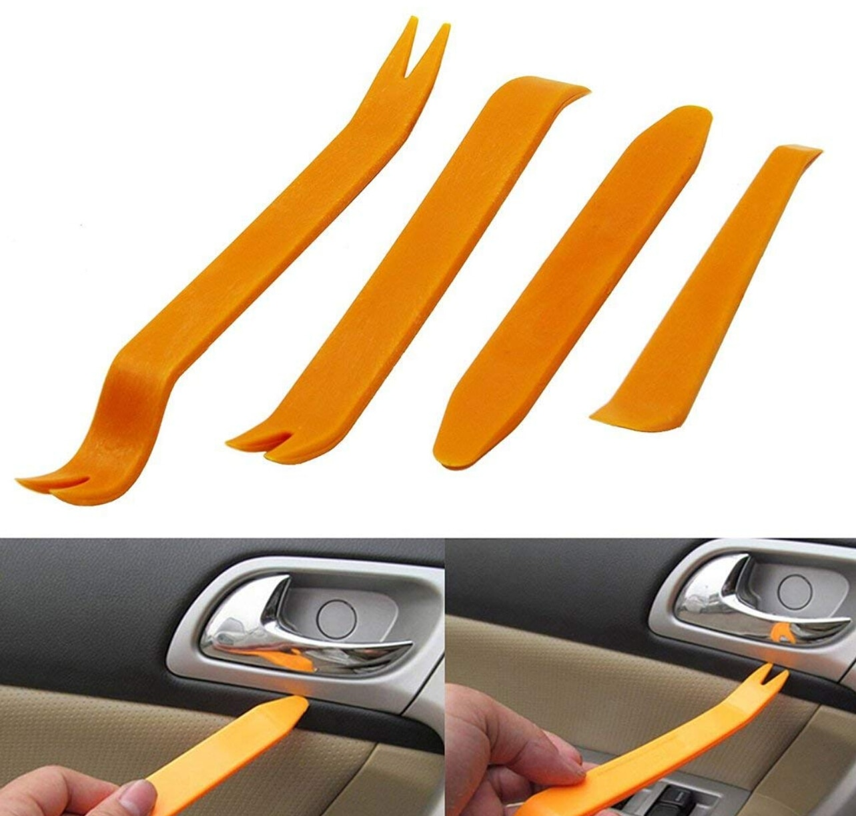 4 шт., клипса для автомобильной панели радио и двери, инструменты для отделки панели для romeo 156 fiat grande punto audi q5 skoda superb 2 opel corsa d для suzuki
