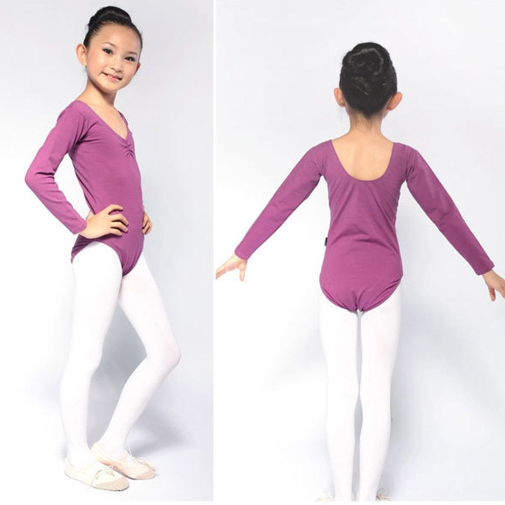 Baby Girl Toddler Ballet Dance Clothes Gymnastics Skating Long Sleeve Leotards Costumes