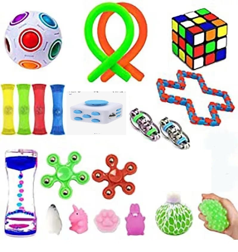 22 Pack Fidget Sensory Toy Set Stress Relief Toys Autism Anxiety Relief Stress Pop Bubble Fidget Sensory Toy for Kids Adults enlarge