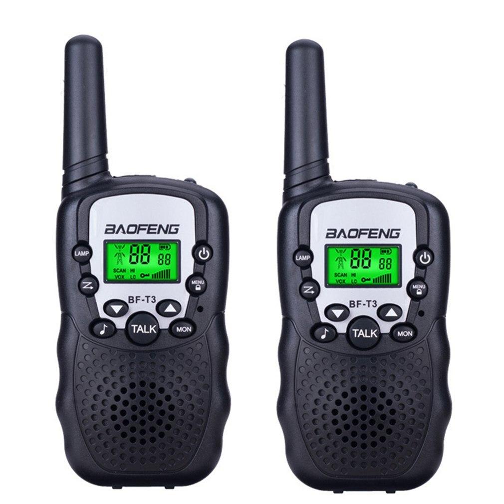 Baofeng-BF-T3 UHF462-467MHz, 2 uds., transmisor-receptor de Radio de dos vías y 10 canales portátil con 8 canales para chico s, Radio y Walkie Talkie