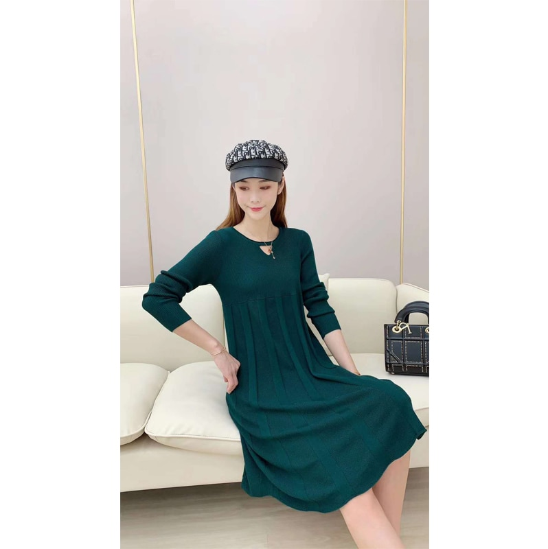 new style Winter Warm Knitted Sweater dress Long Sleeve Sweaters For woman sweaters dress enlarge