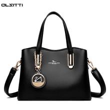 Large Capacity Solid Color Leather Shoulder Bags for Women 2020 Elegant Women's Handbag Designer Lux