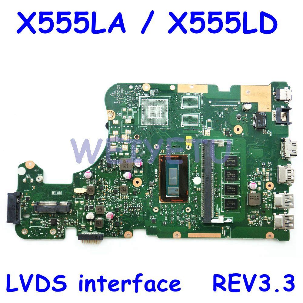 X555LA LVDS I7-5500 CPU 4GB RAM REV3.3 اللوحة ل ASUS W519L X555L X555LJ X555LB X555LN X555LF X555LD laptop mainboard