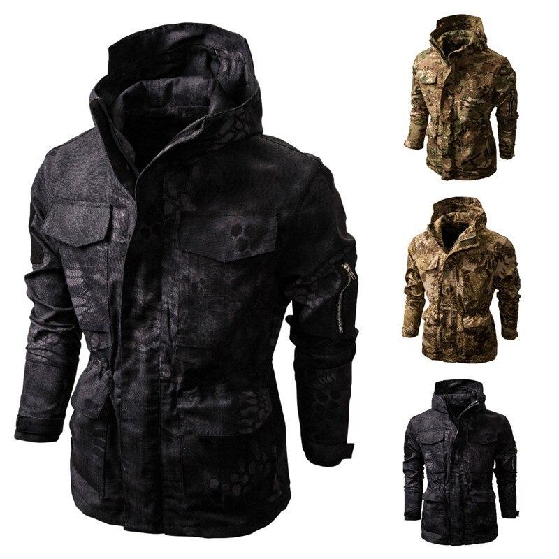 Men's Clothing Winter Loose Camouflage Warm Jacket Multifunctional Tactical Hooded Jacket Outdoor Jacket Harajuku Apparel Man