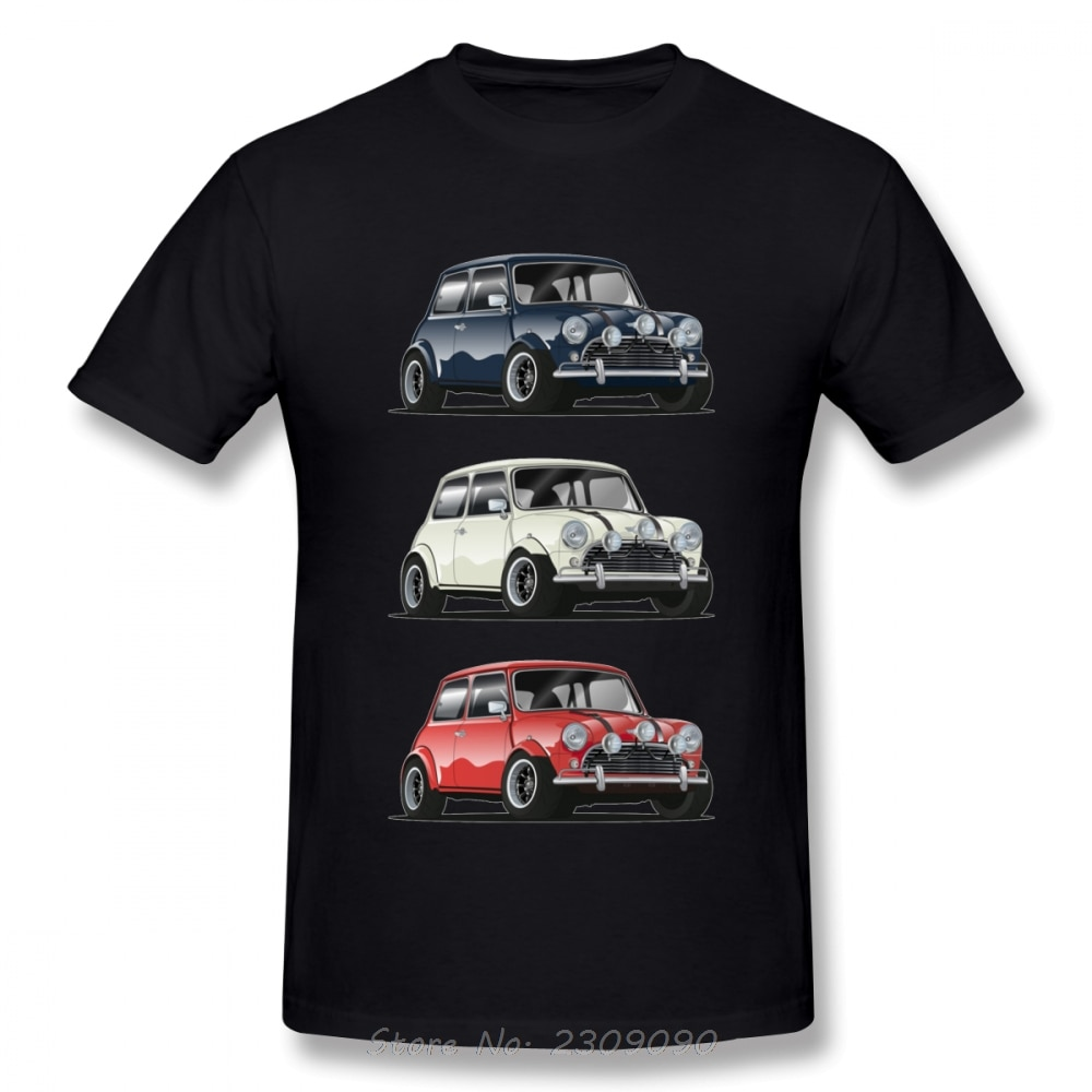 Retro The Italian Trio Mini Cooper T Shirt Popular Car Hipster Style T-shirt Men Cotton Tshirt Hip Hop Tees Harajuku