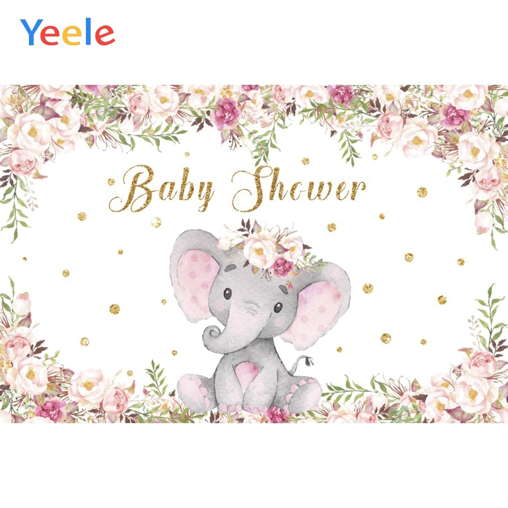 yeele dreamy castle style backdrops for photography pink flowers fairy tale backgrounds birthday party photo vinyl studio props Yeele Flowers Elephant Party Shower Baby Baptism Portrait Photography Backdrops Backgrounds Customized Vinyl For Photo Studio