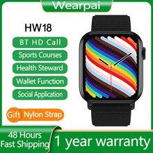 Original HW18 Smartwatch Smart Watch Women Men Wallet Function Bluetooth Call Double Button  pk Andr