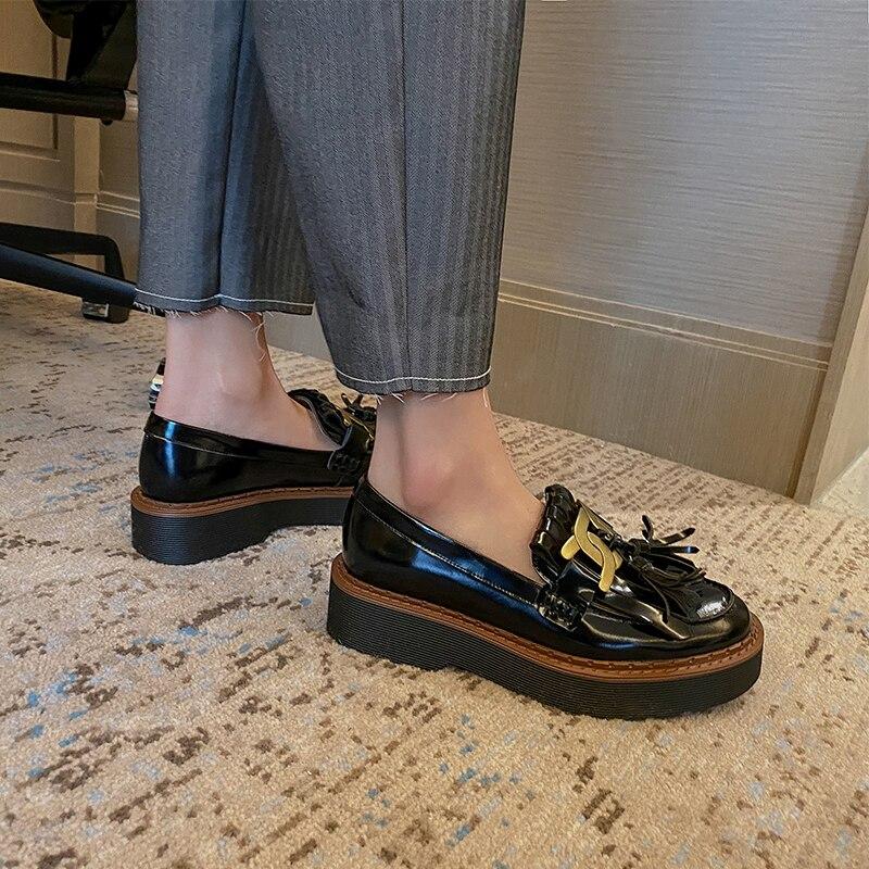 QZYERAI-حذاء نسائي بكعب عالٍ من الجلد الطبيعي ، حذاء بكعب عالٍ مربع من الجلد الطبيعي بمقدمة مستديرة