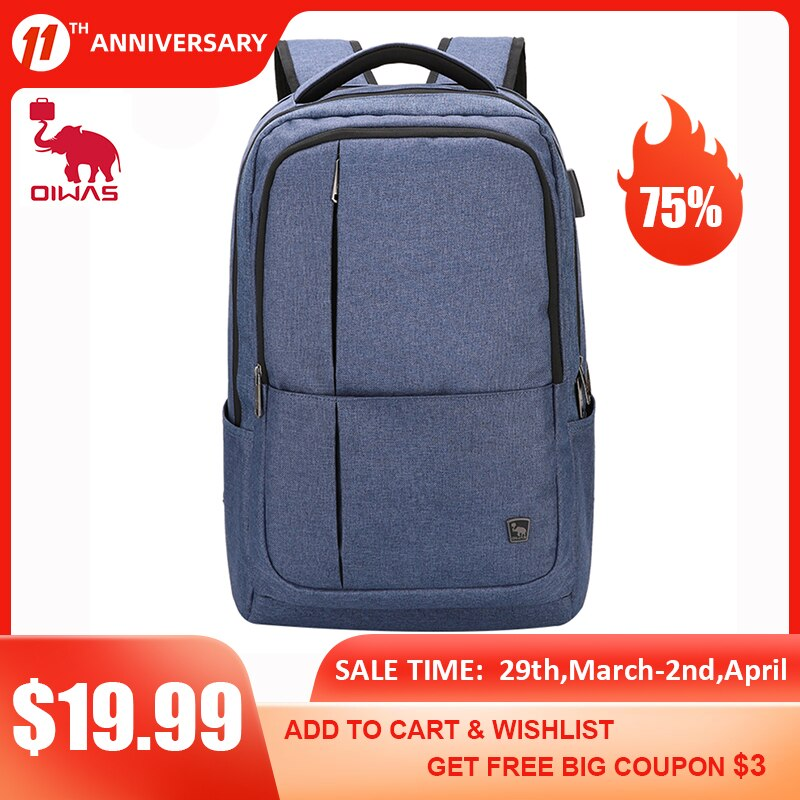 OIWAS Business Backpack Multifunction USB Recharging 17inch Laptop Casual Waterproof Bag Backpacks For Male Women Travel Mochila