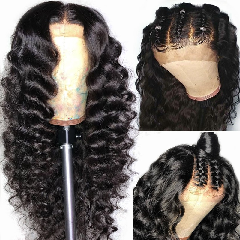 Yyong Hair Pre Plucked Full Lace Human Hair Wigs With Baby Hair Loose Deep Wave Brazilian Lace Wig Glueless Full Lace Wig Remy