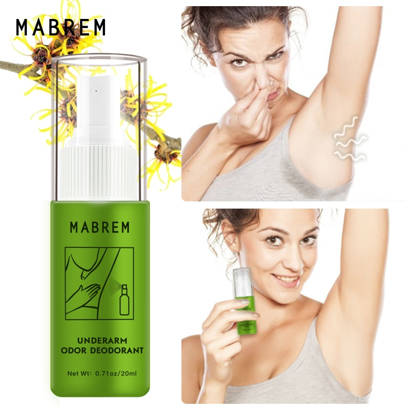 MABREM Body Odor Sweat Deodor Perfume Spray For Man and Woman Removes Armpit Odor and Sweaty Lasting Aroma Skin Care Spray 20ml