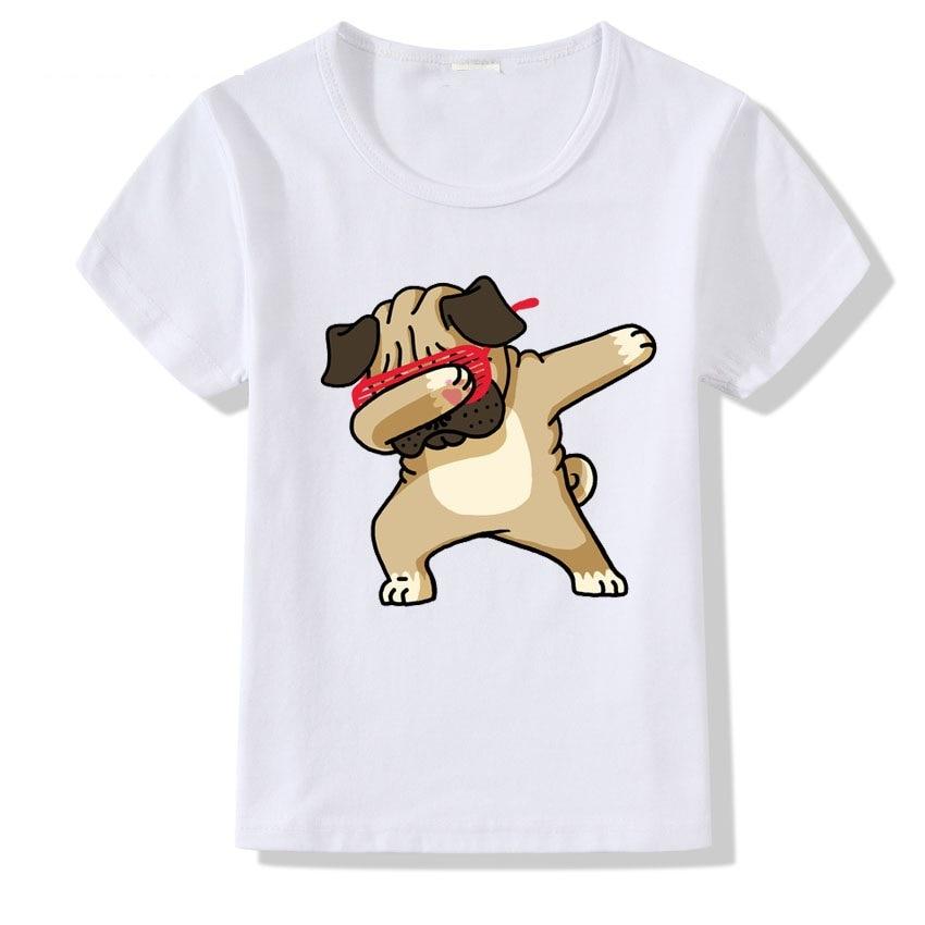 Dogs Funny T Shirts New O-neck Short Sleeve Shirt Boy Girls Tops baby boy tops
