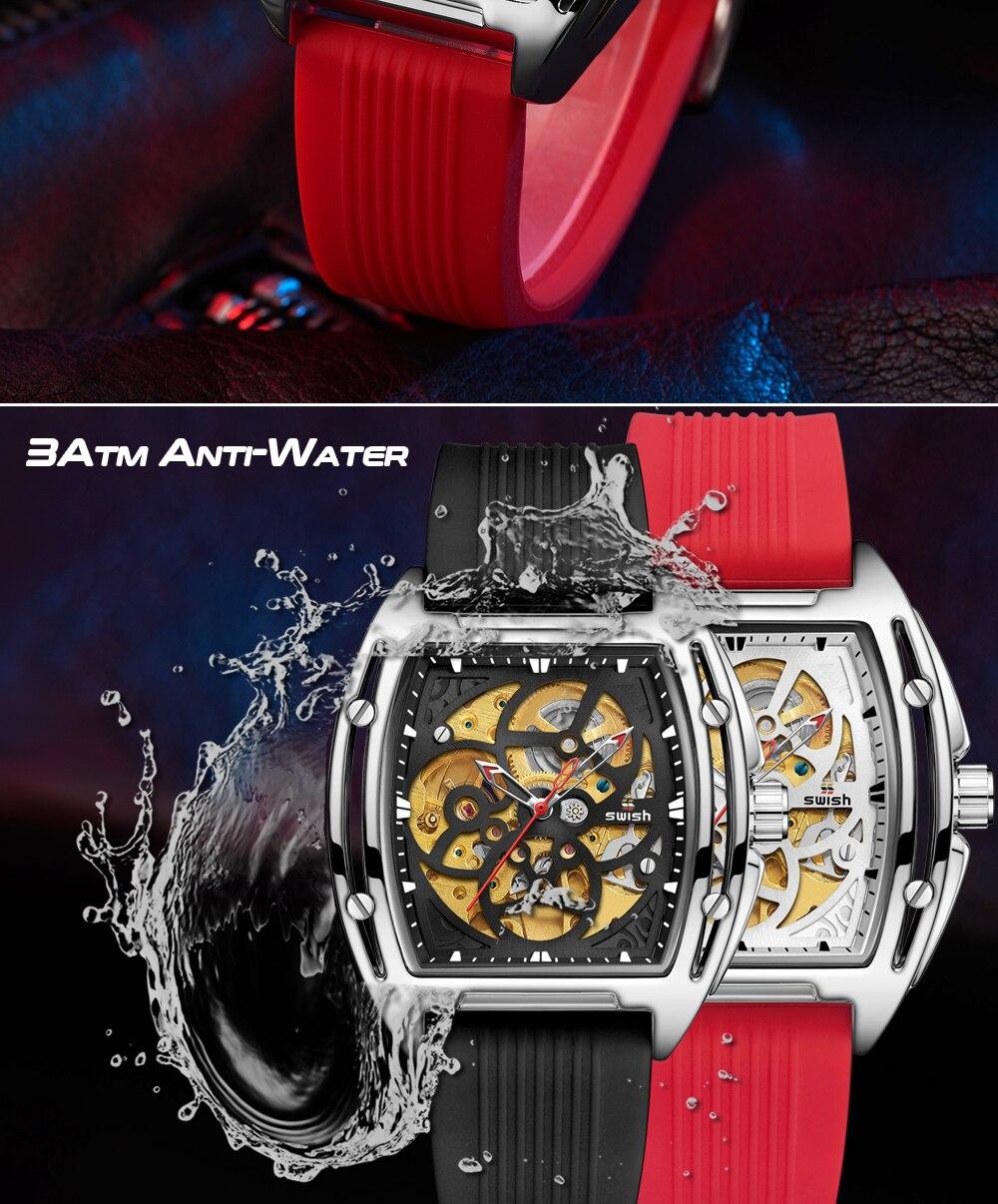 He4214c660cd54c60885bc81edd0b630bS SWISH Brand Design Luxury Men's Mechanical Wristwatch
