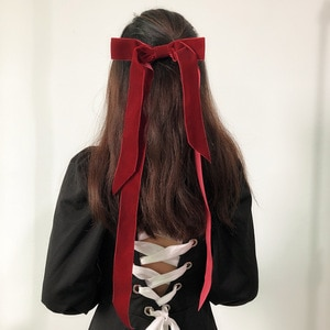Free shipping Fashion women bow ribbon hairpins girl's Solid hairclips korea style side clip hair accessories