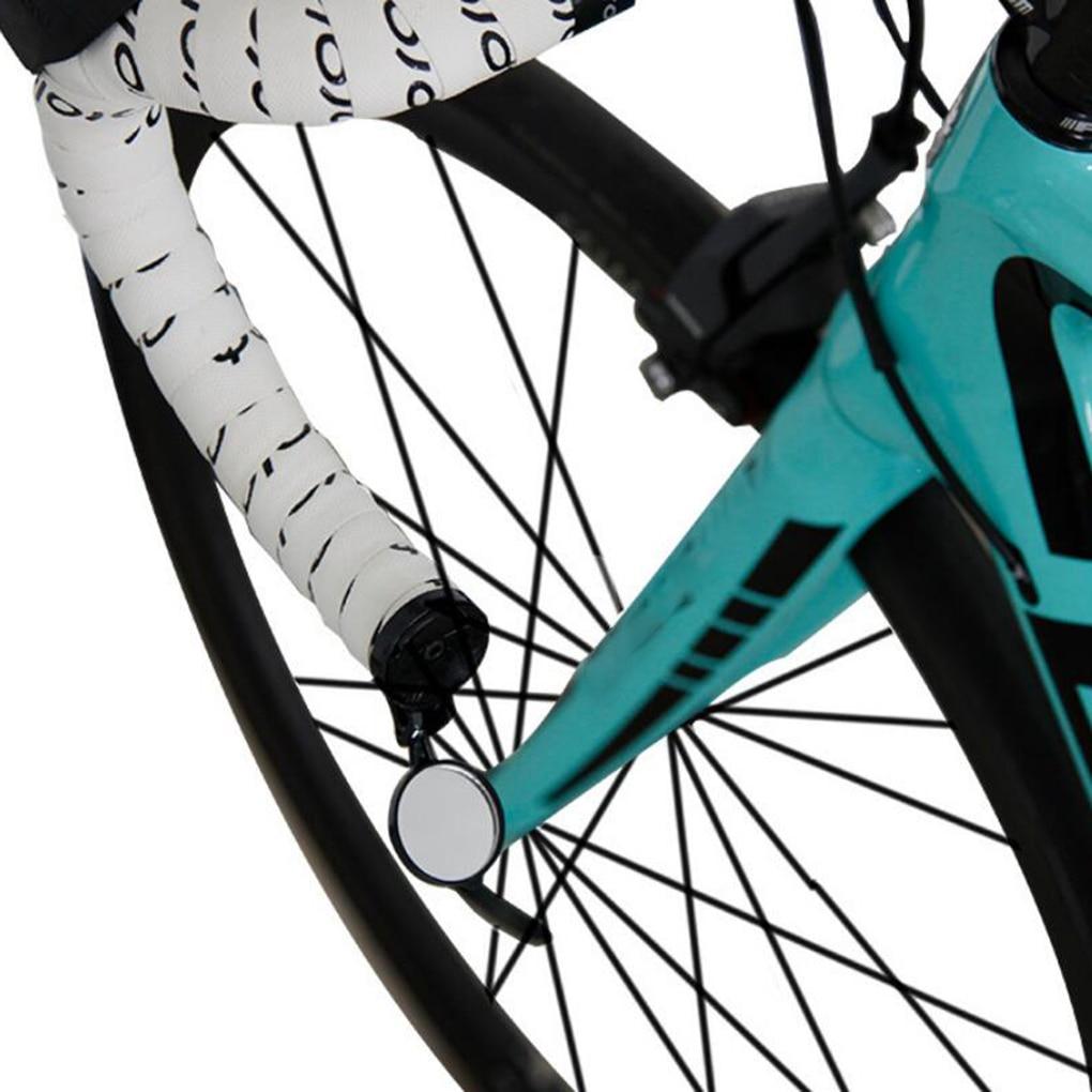 Bicicleta espejo trasero bicicleta de carretera del manillar final espejo de seguridad Flexible espejos retrovisores