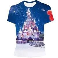 2021 christmas 3d printed fashion mens short sleeve t shirt outdoor casual loose mens t shirt