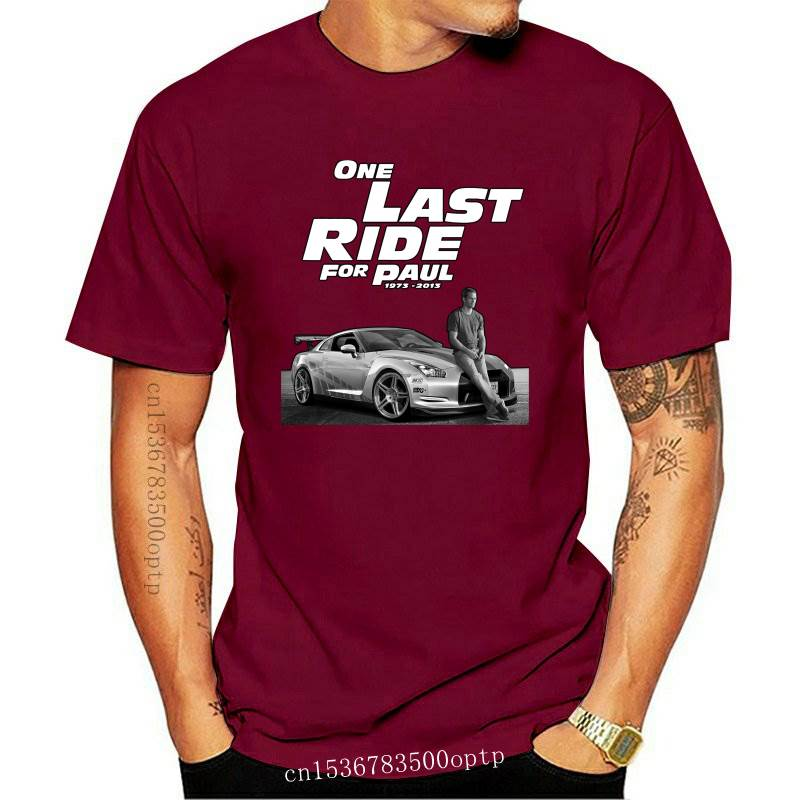 New 100% Cotton Fast And Furious 7 One Last Ride For Paul Walker T Shirt Men Design T Shirt Women Tshirt