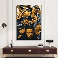 Hip Hop Tupac musique affiche mode cote ouest impressions sur toile peinture decoration de la maison mur Art 2PAC image pour salon decor