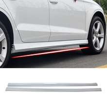 Fidélité pour AUDI A3 berline 2013-2020   Jupes latérales, Kit de couverture, cadre de garniture, matériau ABS blanc glacier, accessoire de voiture, style automobile