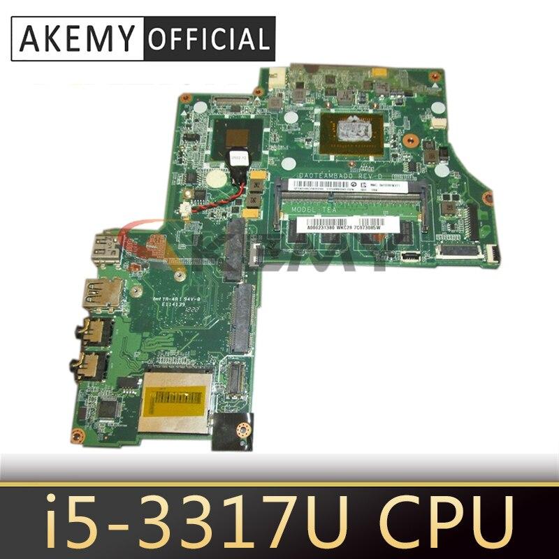 AKEMY اللوحة الأم للكمبيوتر المحمول توشيبا الأقمار الصناعية U845W U840W i5-3317U وحدة المعالجة المركزية DDR3 A000231380 DA0TEAMBAD0 اللوحة الرئيسية اختبار كامل