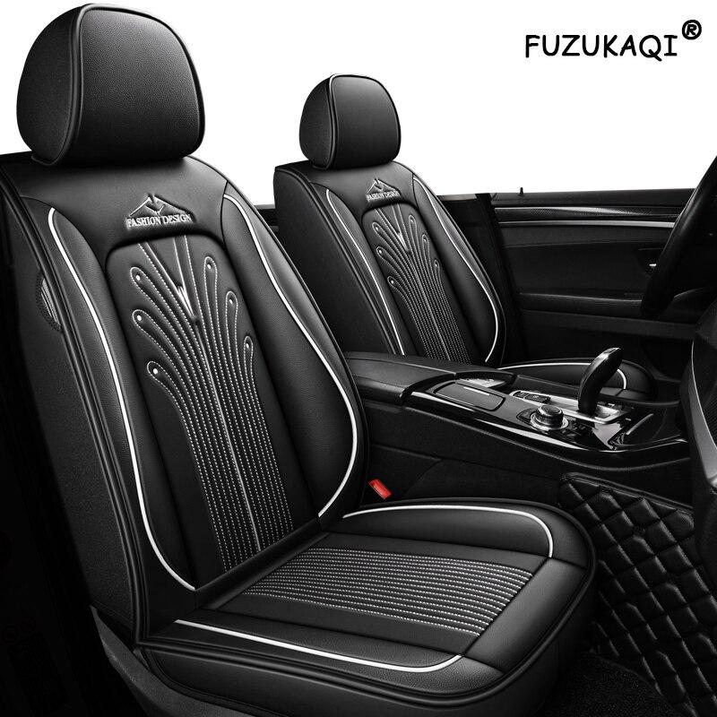 FUZHKAQI Leather car seat cover for vw golf 4 5 6 Volkswagen polo sedan 6r 9n passat b5 b6 b7 Tiguan auto accessories seat cover