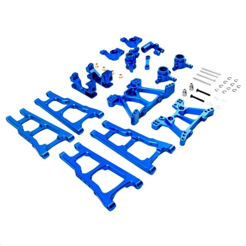 W001 ترقية الهيكل المعدني الذراع C مقعد الخلفي كعب قطع غيار المحور عدة ل Traxxas سلاش 4X4 1/10 RC قطع غيار شاحنات السيارات