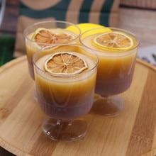 40 Pcs 140 Ml Nieuwe Mousse Dessert Cup Zonder Deksel Wijn Glas Plastic Cake Jelly Pudding Cup Keuken Benodigdheden Party bruiloft Benodigdheden
