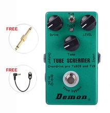 Démon TS808 Tube hurleur Overdrive Pro Vintage guitare électrique effet pédale 2 en 1 Overdrive et True Buypass