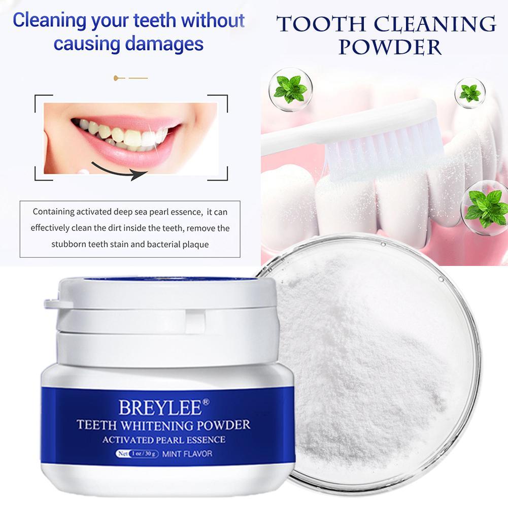 Polvo blanqueador dental perla Natural poder mal aliento manchas de té Tartar quitar dientes polvo de limpieza dental blanco