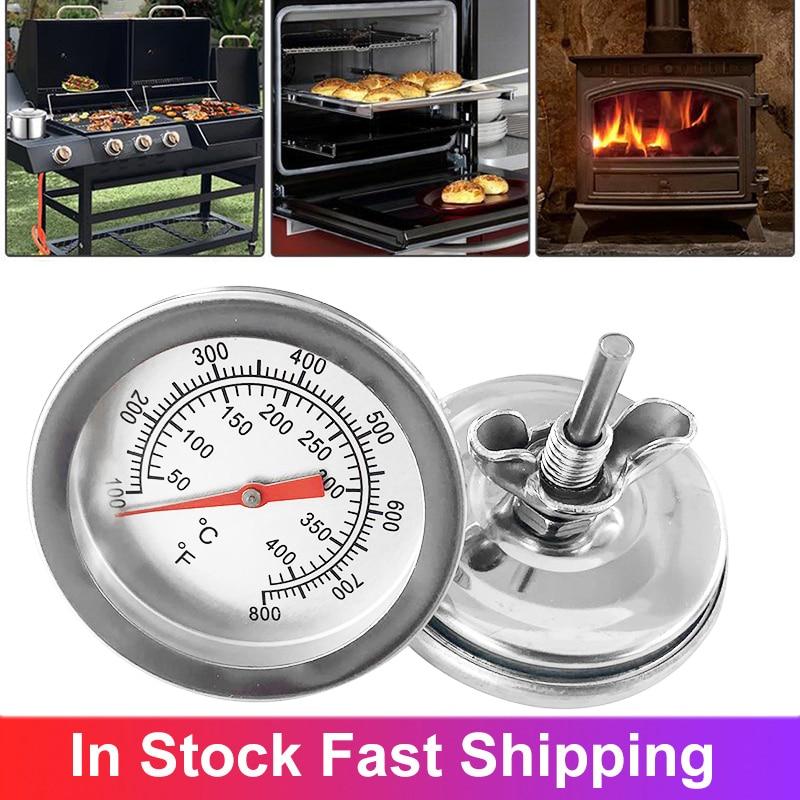 Термометр для барбекю, градусник для коптильни с углем, по Фаренгейту, 50-400 градусов Цельсия
