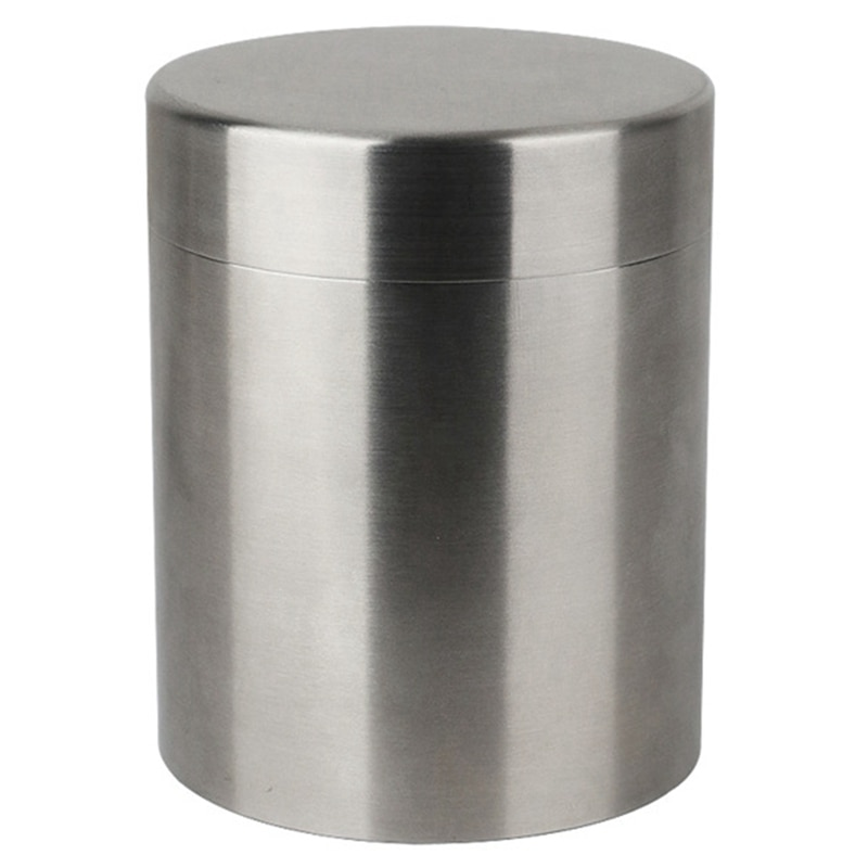 400 مللي علب الشاي الفولاذ المقاوم للصدأ علبة تخزين أكباس شاي الشاي المنظم الحاويات الرطوبة واقية القهوة الفول الحبوب تخزين خزان