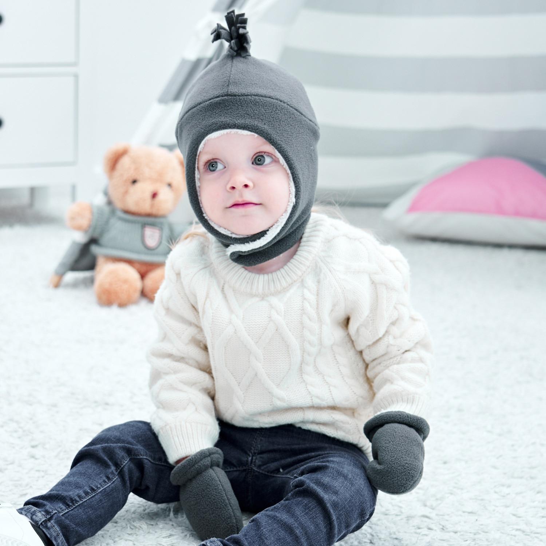 Детская шапка бини из двух частей детская шапка перчатки шапка детская шапка зимой сохраняют тепло детская Защитная шапка с ушками шапка пе...